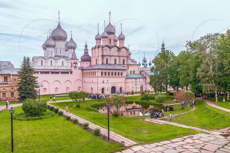 View of the churches of the Rostov Kremlin.Rostov Veliky. Yaroslavl region. Russia. The city of Rostov Veliky is a part of the Golden Ring of Russia photo