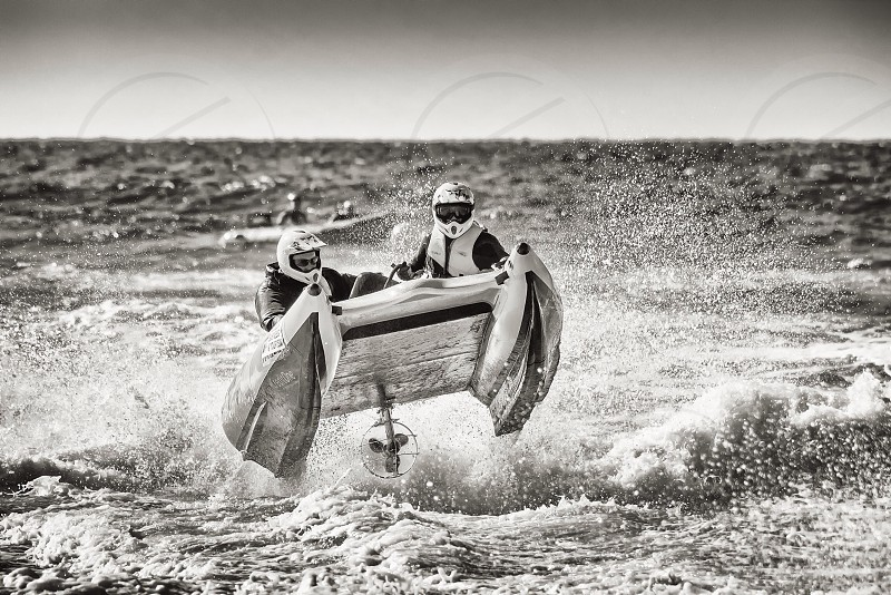 Extreme surf action dangerous sports power boats photo