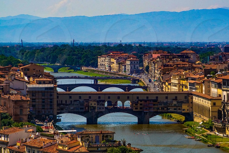 Ponte Vecchio Florence seen from Piazzale Michelangelo  photo
