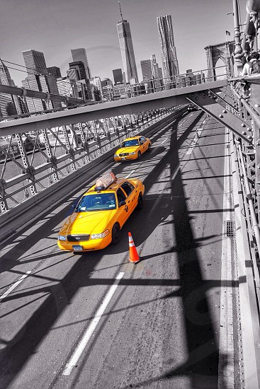 Yellow cab in New York photo