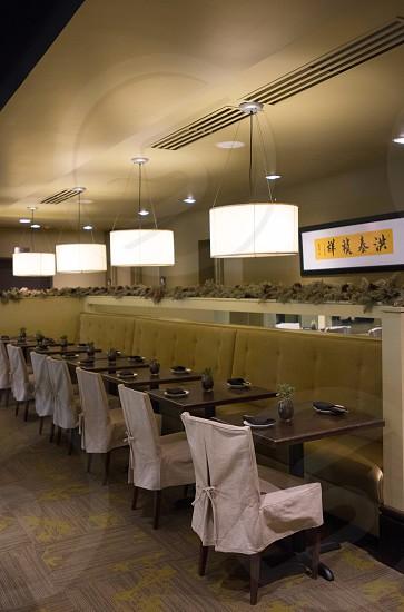 interior restaurant decor lighting photo
