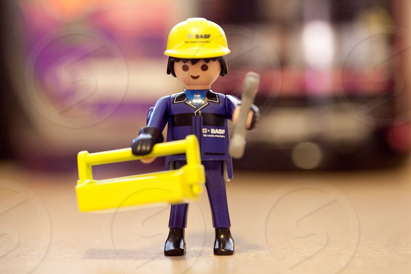 construction worker lego mini figure photo