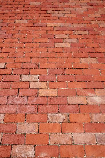 Boston clay brick flooring texture in Massachusetts USA photo