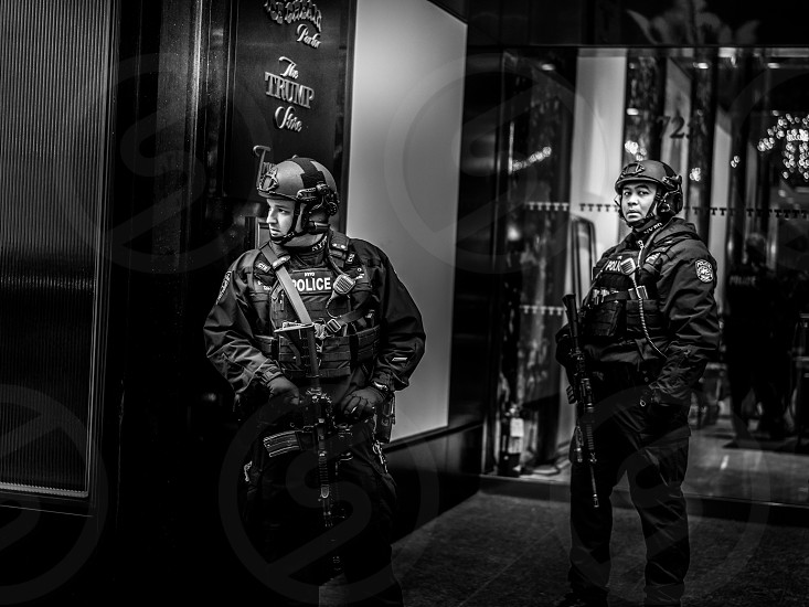 Guards of Trump Tower photo