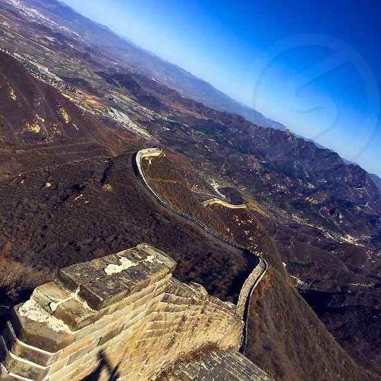 China sky the Great Wall altitude  photo