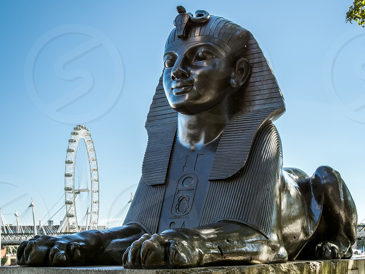 The Sphinx on the Embankment in London photo