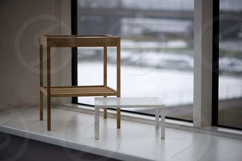 Two Shelves On Windowsill photo