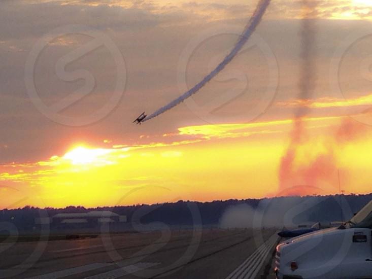 sunset airshow photo