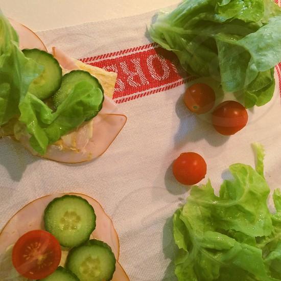 Fresh sandwiches salad photo