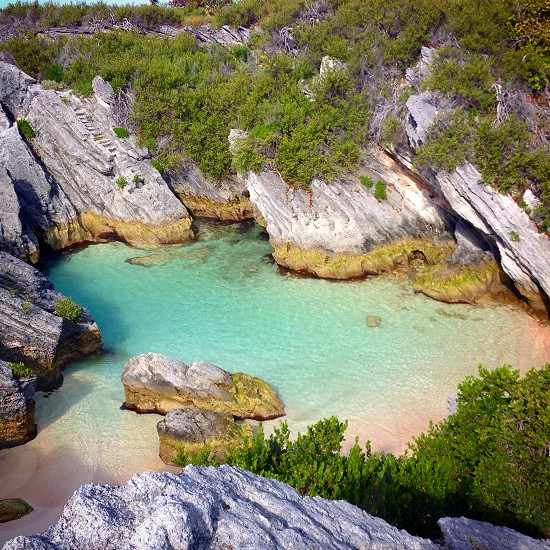 Secret cove in Bermuda photo