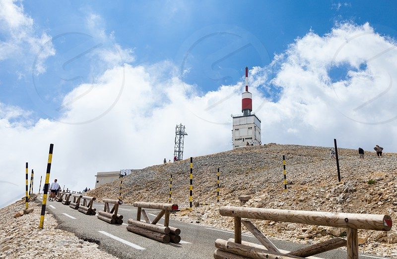 Challenge yourself climb the Mont Ventoux Provence France Mont Ventoux Provence cycling challenge sport man cyclist high climb mountains road Tour de France photo