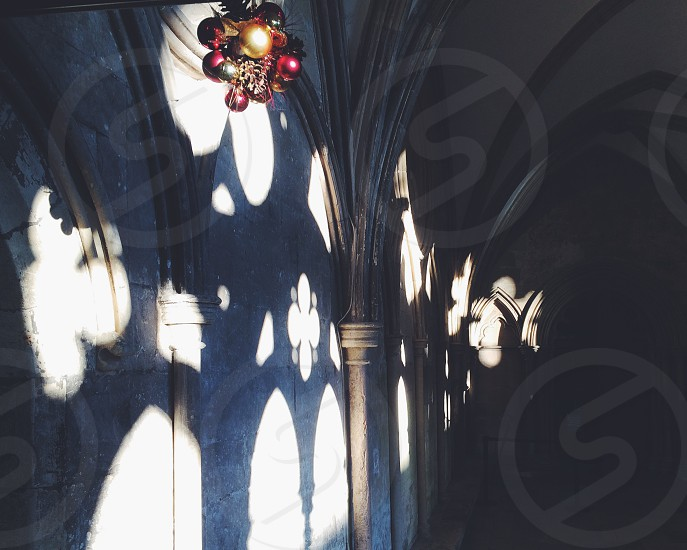 Christmas Cathedral cloister light decorations photo