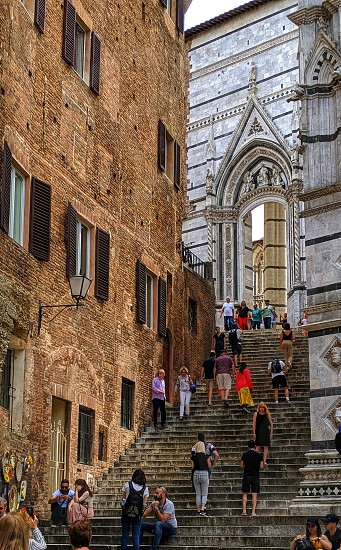 Italian street of Siena photo