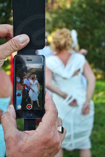 iPhone video bride wedding dancing  photo