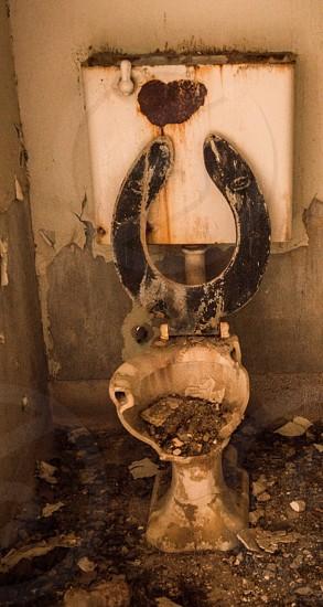 Abandon toilet broken old dirty  photo