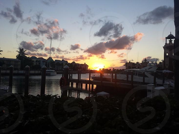Sunset on Paradise Island Nassau.  photo