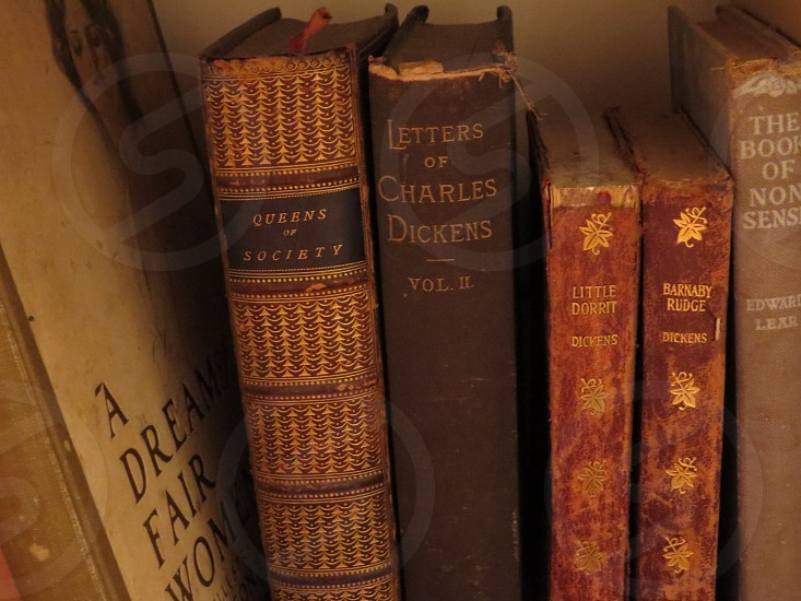 A grouping of antique books. photo