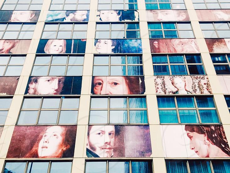 Architexture facade faces building architecture  wall exterior windows photo