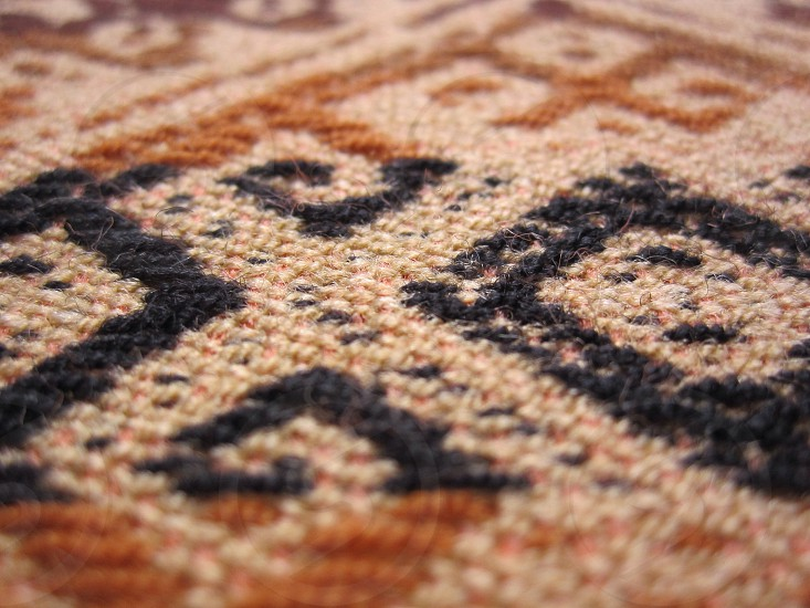 Black and Brown Area Rug photo