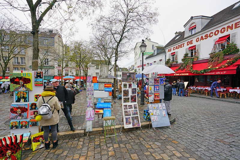 Place du Tertre in Paris France photo