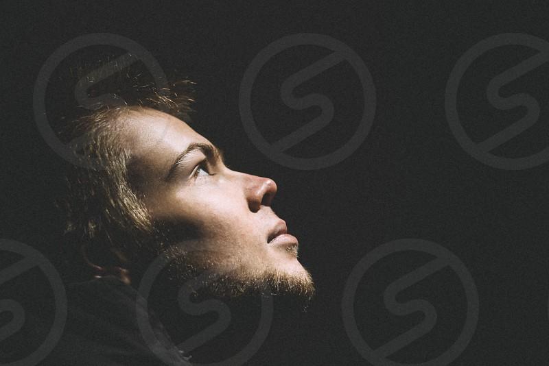 Conceptual portrait of a Young man photo
