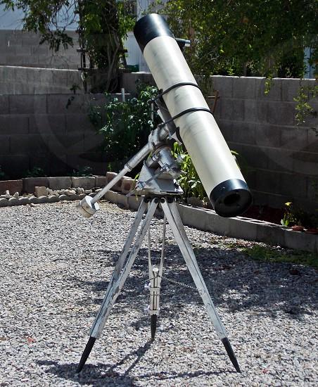 white and black telescope photo