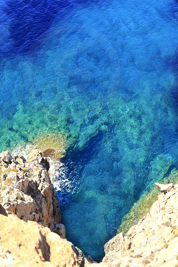 mediterranean high sea view Barbaria cape Formentera balearic islands photo