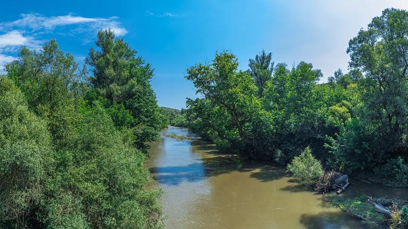 Osam river near Devetashka Cave in Bulgaria photo