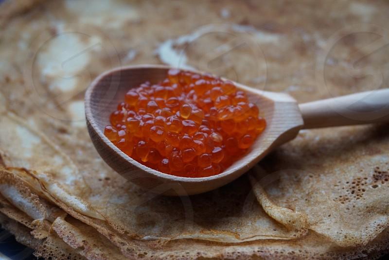 Crepes crepe pancakes pancake caviar food seafood delicious  photo