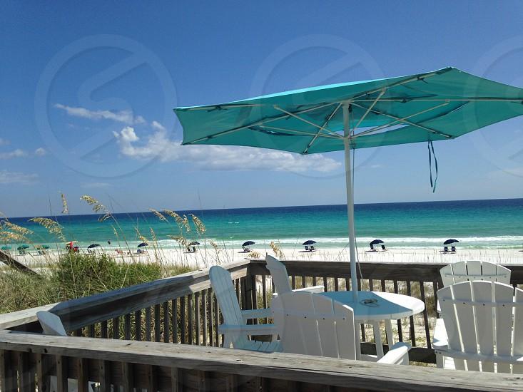 Umbrella beach ocean photo