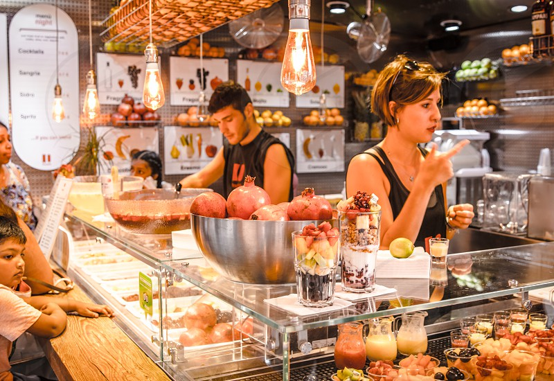 Fast Food Employee Taking Order photo
