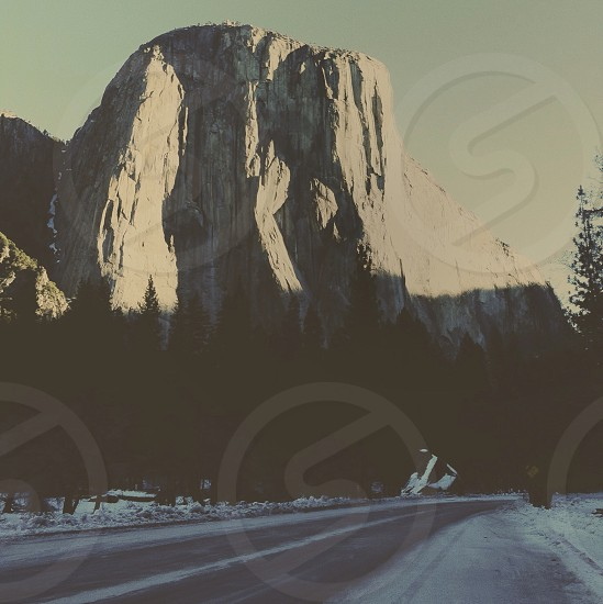 rocky cliff photo