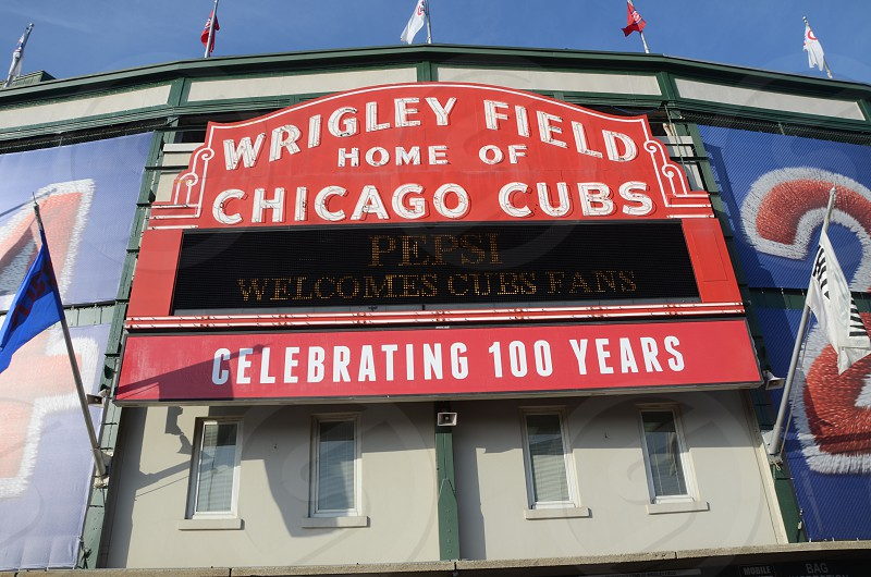 Chicago Cubs Baseball Wrigley Field ballparks stadiums photo
