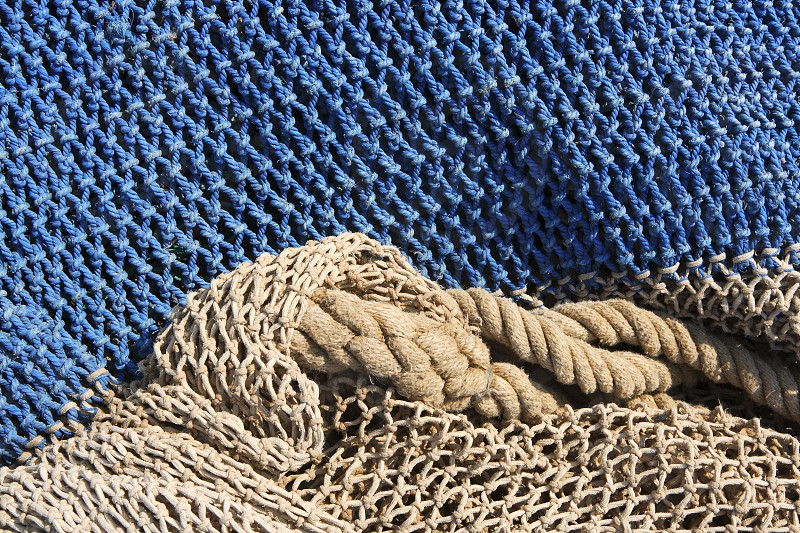 fishing nets still life background pattern fishermen tackle photo