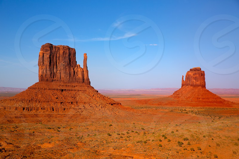Monument Valley West and East Mittens Butte Utah National Park photo