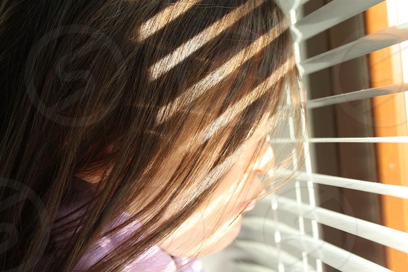 brunette human hair photo