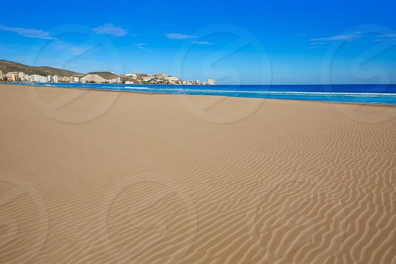 Cullera Sant Antoni beach San Antonio in Valencia of Spain photo