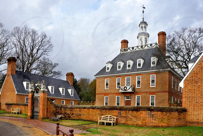 The Governor's Palace in Colonial Williamsburg VA. photo
