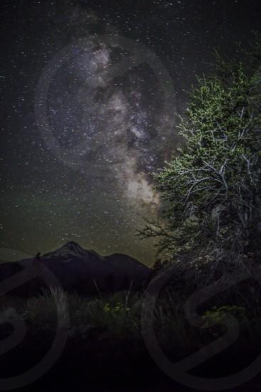 landscape Milky Way Mt. Shasta  photo