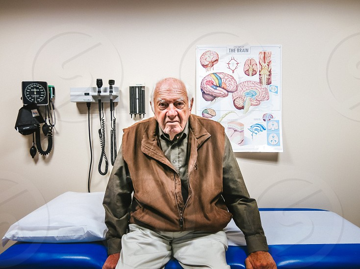 Alzheimer's patient waiting for neurologist  photo