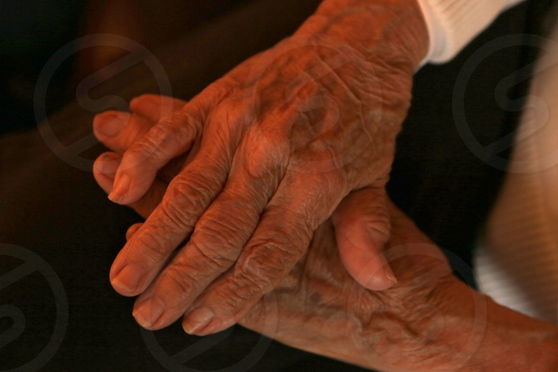 Old hands painful joints wrinkles photo
