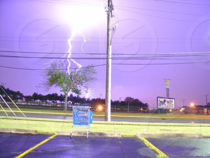 LightningstormpurpleMichiganshopping cartHazel Park photo