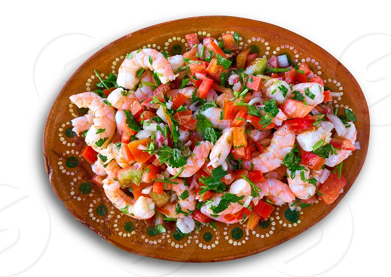 Mexican Ceviche recipe with shrimp seafood from Caribbean photo