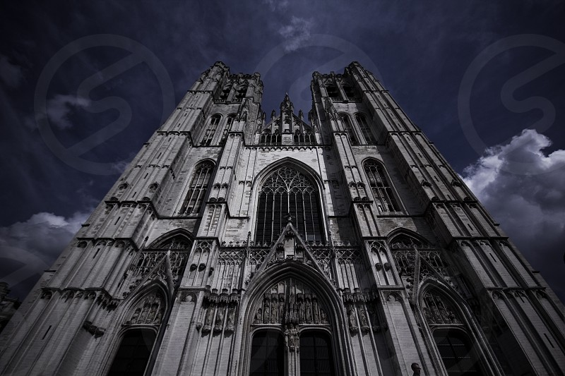 A beautifull cathedral in Brussels. I changed the color to make it more dramatic  photo