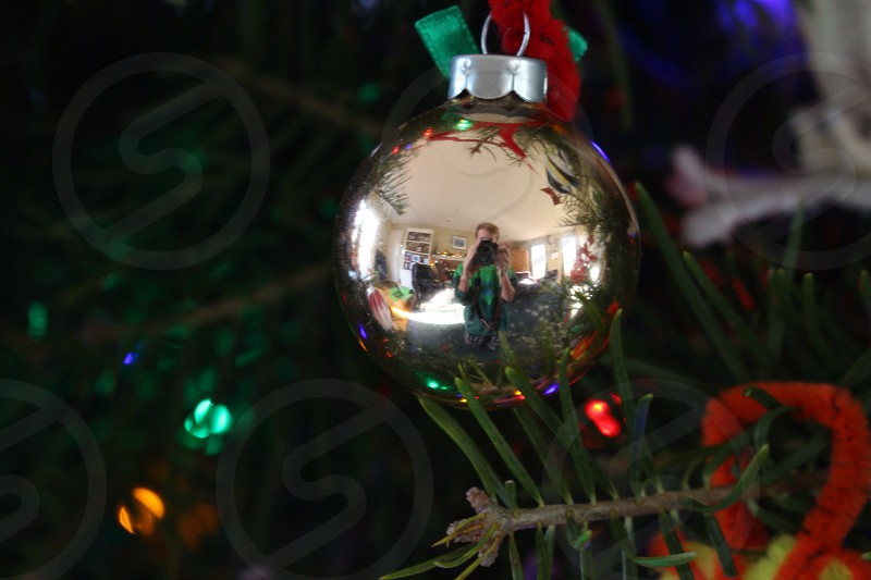 christmas ornament on tree photo