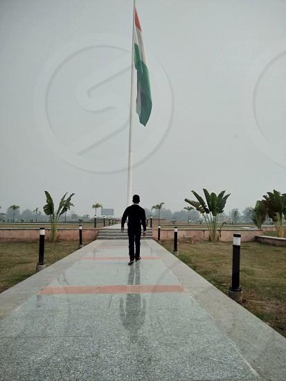 India Flag walking me photo