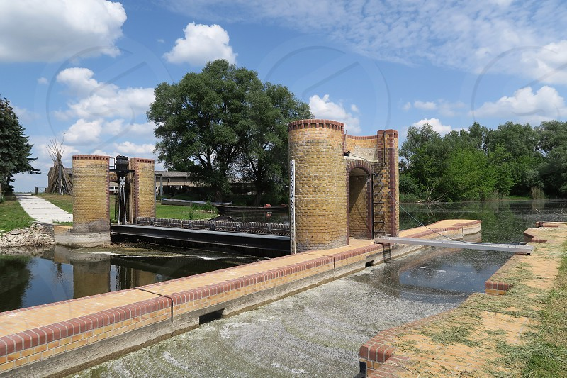 historical Needle weir at Havel river (Brandenburg Germany). photo