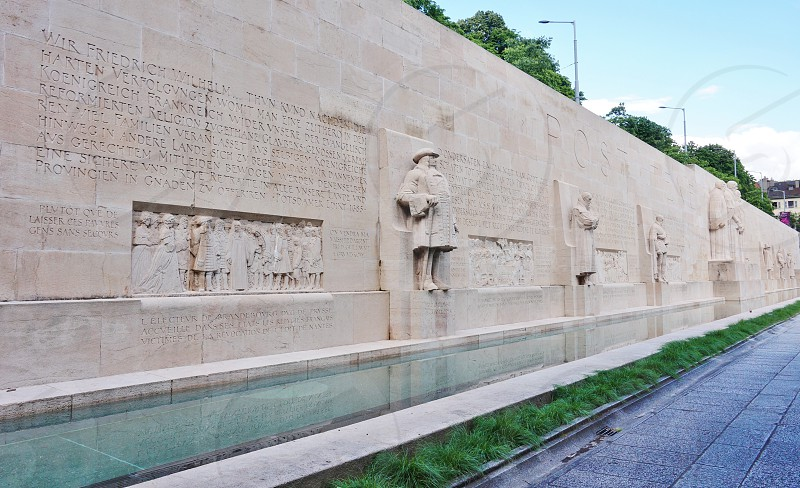 The Reformation Wall in Geneva Switzerland photo