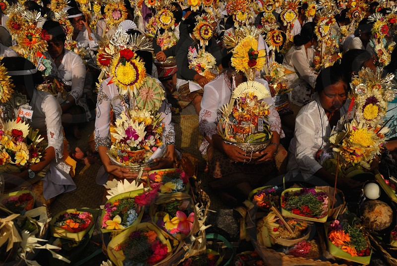traditional ceremony ngaben in Bali photo