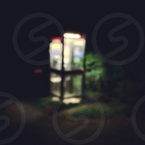 Phone Box at night  photo